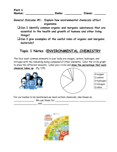 Topic 1 Notes – INDTRODUCTION TO ENVIRONMENTAL
