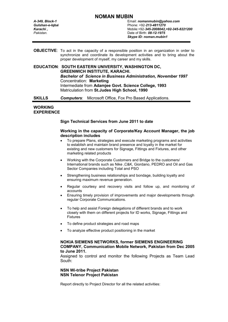 noman mubin - Career In Dubai