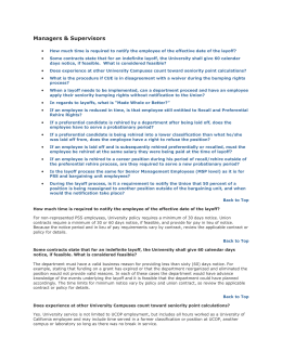 Layoff FAQs DOC - University of California | Office of The President