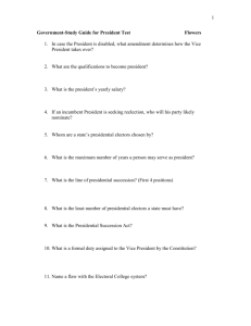 Government-Study Guide for President Test