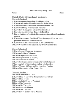 Unit 6: Presidency Study Guide
