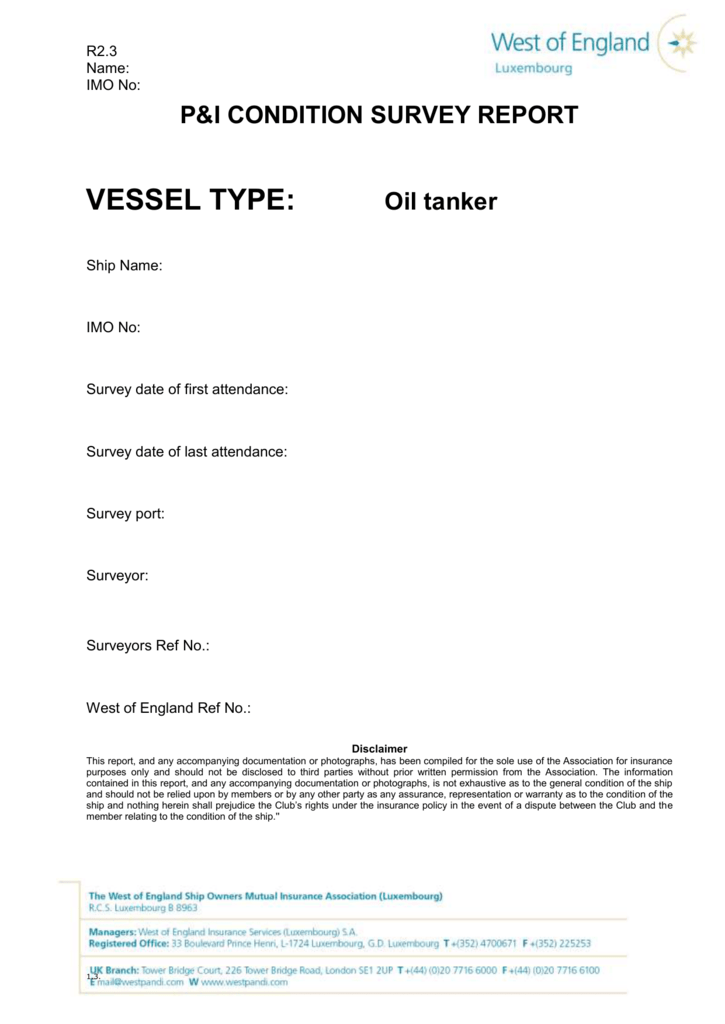 dfc369d1905 Chemical Tanker Survey Report - West of England Ship Owners