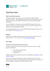 Teaching notes - Department of Education NSW