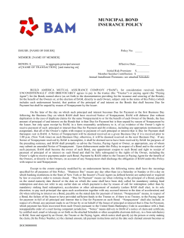 bam specimen policy - Build America Mutual