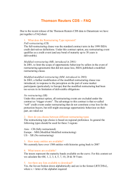 Thomson Reuters CDS – FAQ