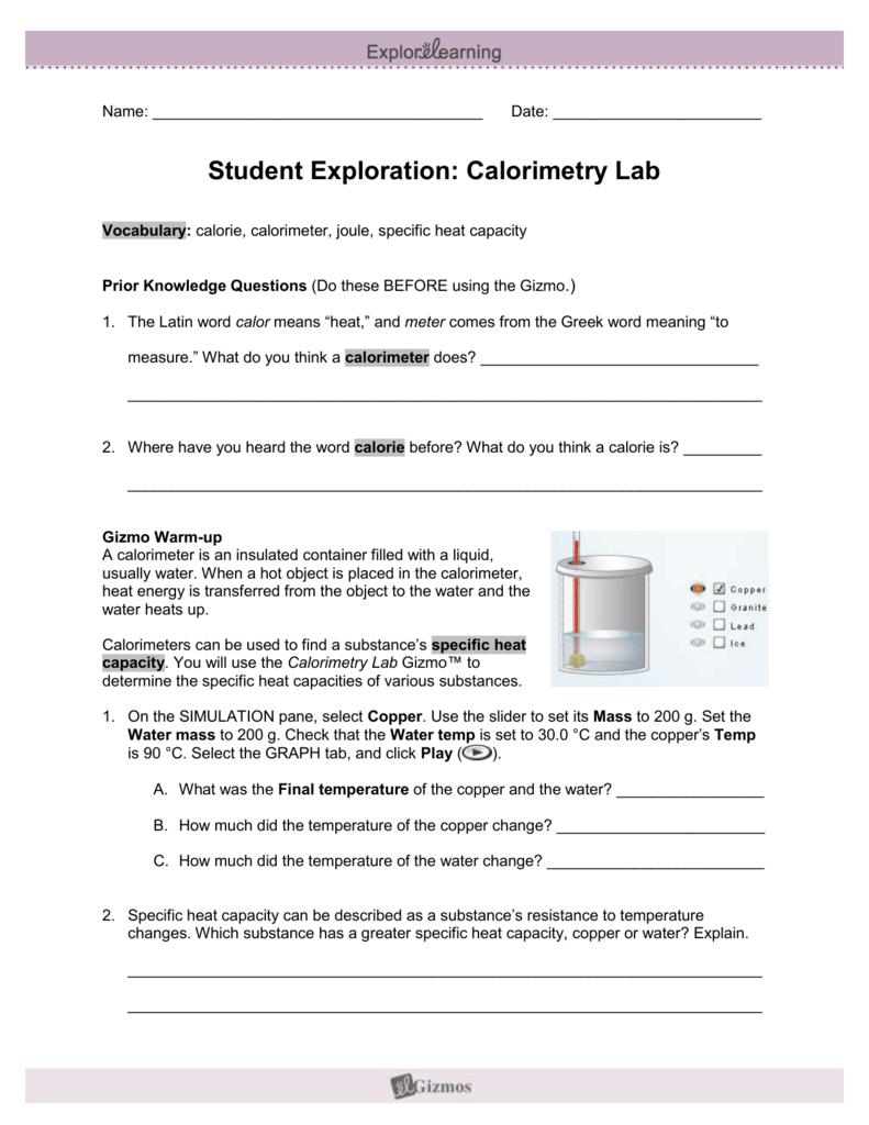 Student Exploration Sheet: Growing Plants