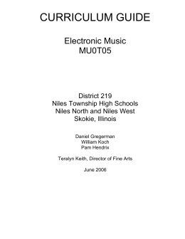 Electronic Music - Niles Township High School District 219