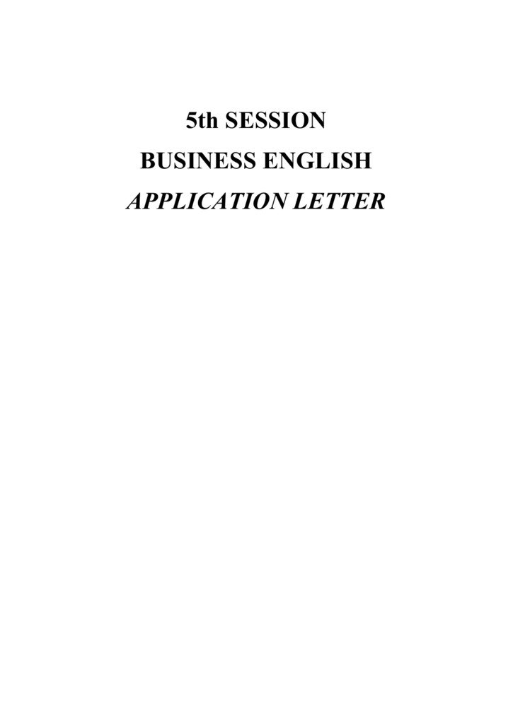 Application Letter 4