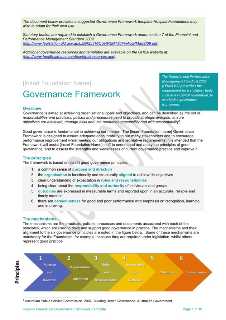governance framework template. Black Bedroom Furniture Sets. Home Design Ideas