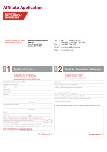 C - Affiliate Application form