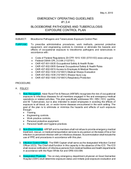bloodborne pathogens policy template - blood borne pathogen exposure control plan a