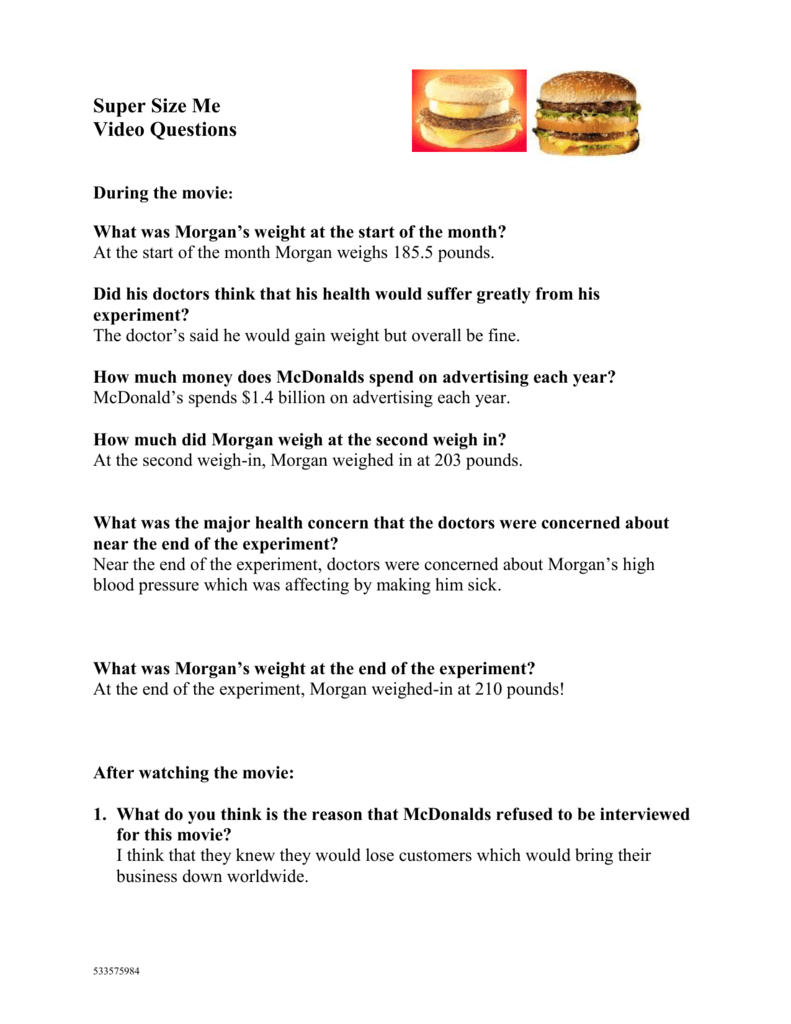 Supersize Me Worksheet High Answers  1f39a27b0c50   Bbcpc likewise supersize me video worksheet answers Archives   FREE Printable furthermore SuperSize Me  Doentary Activity moreover Movie worksheet  Super Size Me    Health Cl   Super size me also  moreover Nature Vs Nurture In Video Lesson Transcript Thumbnail Frankenstein further Supersize Me worksheets in addition Movie Worksheet  SuperSize Me together with king corn video worksheet answers supersize me worksheet answers pdf furthermore supersize me video worksheet answers 33 supersize me worksheet additionally  likewise Super Size Me  A Look at the Techniques Used in the Film to Provoke further Film  Supersize Me   grammar worksheet   ESL worksheet by bretagne together with  additionally Supersize Me   ESL worksheet by vanessa78 moreover Super Size Me. on supersize me video worksheet answers