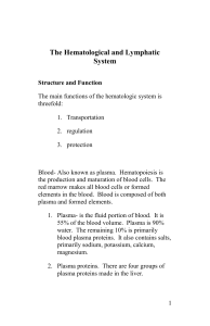 Chapter 23 The Hematologic and Lymphatic System