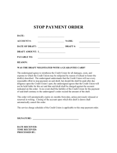 stop payment order - Sierra Pacific Federal Credit Union