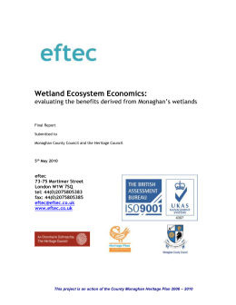 Evaluation of wetlands report.