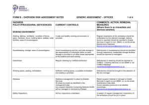 Office Risk Assessment - Leeds Beckett University