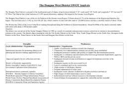 The Dangme West District SWOT Analysis The Dangme West