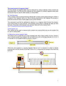 Measurement of magnetic fields