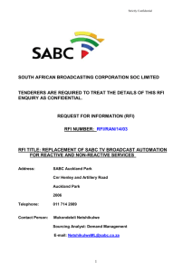South African Broadcasting Corporation Limited Reg no