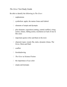 The Giver Test Study Guide