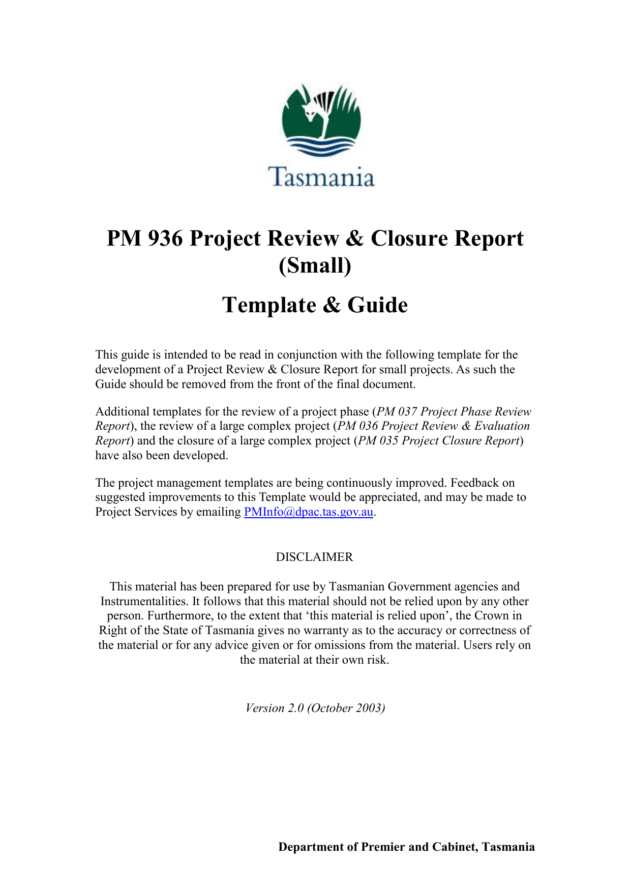 project review and closure report