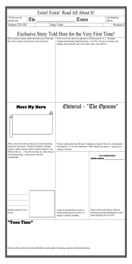 Civil War Newspaper Template