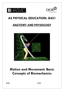 AS PHYSICAL EDUCATION: G451 ANATOMY AND PHYSIOLOGY