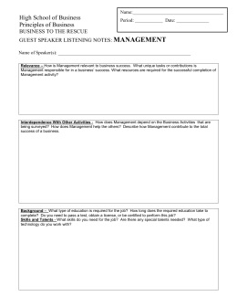 Guest Speaker Notes Management