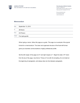 Faculty of Medicine Memorandum Template