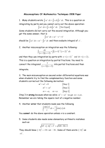 Misconceptions Of Mathematics Techniques 2008 Paper