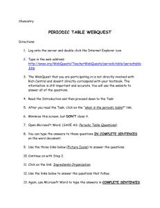 Get Organized A Periodic Table Webquest Answer Key ...