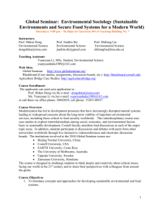 Global Seminar: Environmental Sociology