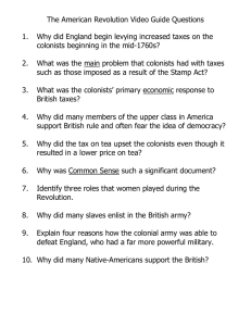 The American Revolution Video Guide Questions