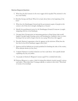 """prompts for short story """" harrison bergeron"""" by kurt vonnegut harrison bergeron questions"""