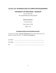 Exam 2 - University of Wisconsin–Madison