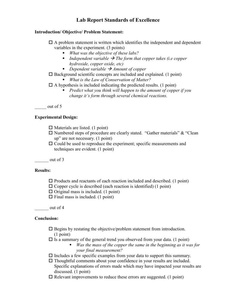 lab report steps