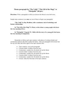 senior project outline