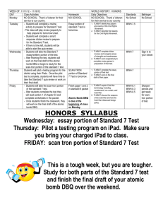 week 13 nov 12 to 15 HONORS