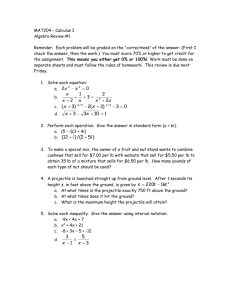 MAT205 – Calculus II - University of Sioux Falls