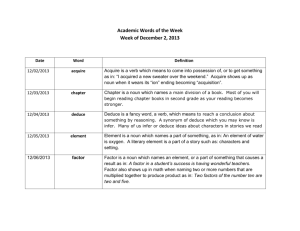Academic Words of the Week Date Word Definition 12/02/2013
