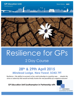 Flyer - GP Education Unit