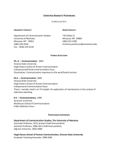 Curriculum Vitae - College of Humanities and Sciences