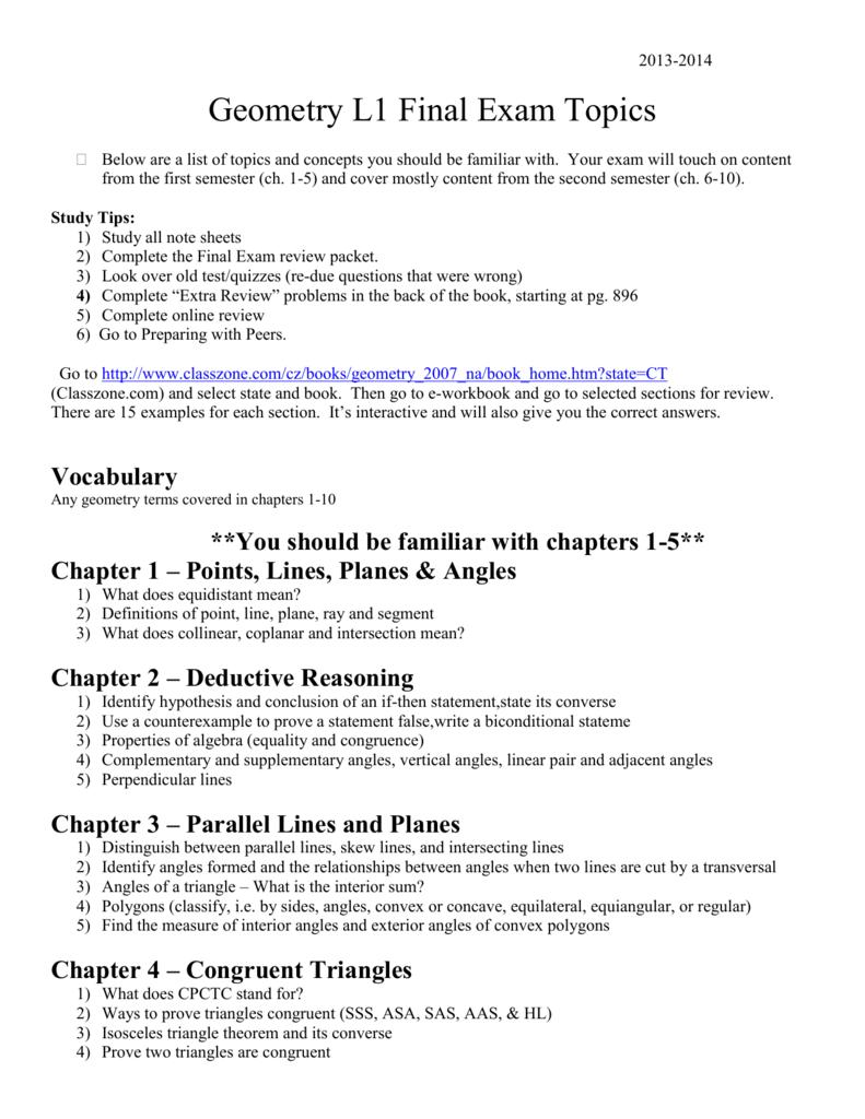 Algebra 1 Midterm Exam Topics