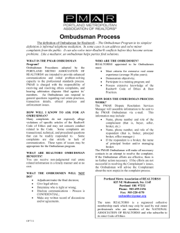WHAT IS THE HSAR OMBUDSMAN OPTION