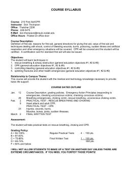 CPR Worksheet