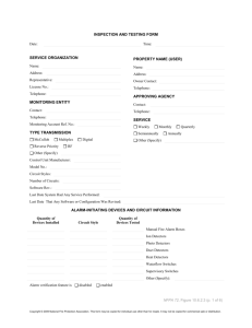 inspection and testing form