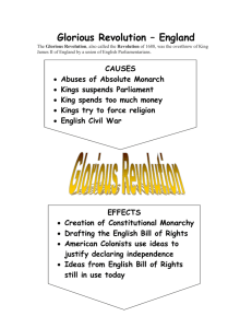 Glorious Revolution – England