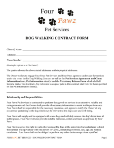 DOG WALKING CONTRACT FORM Client(s) Name: ______ ______