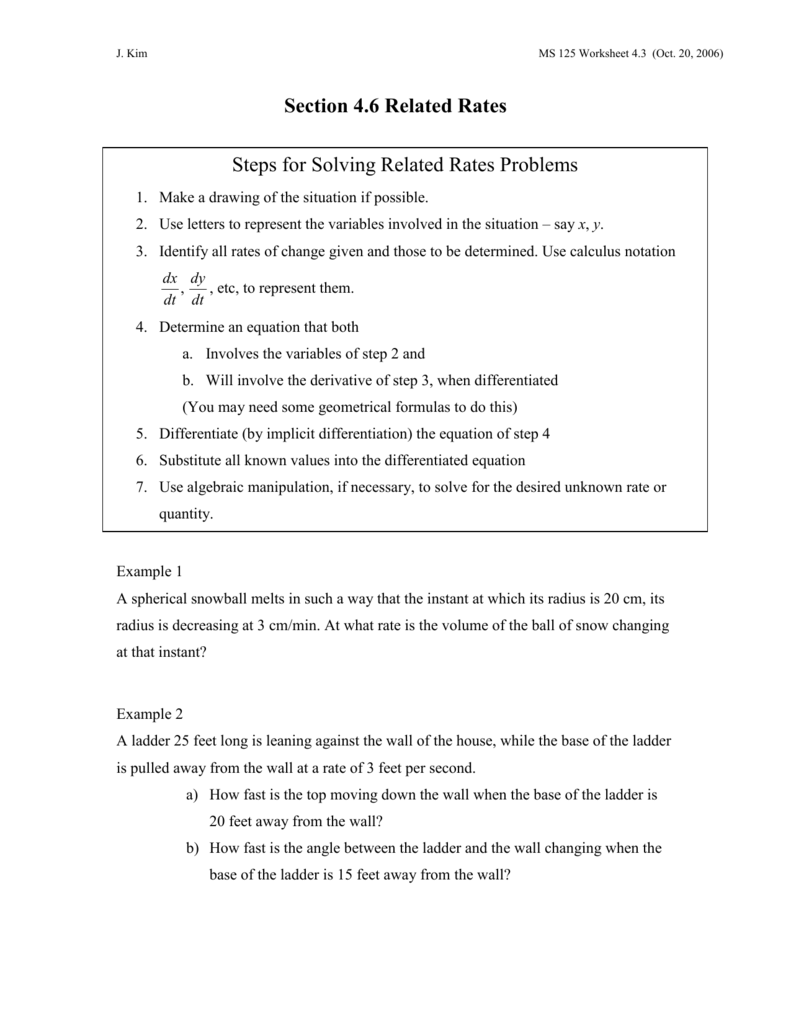worksheet Implicit Differentiation Worksheet With Answers worksheet on related rates section 2