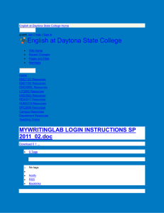 English at Daytona State College